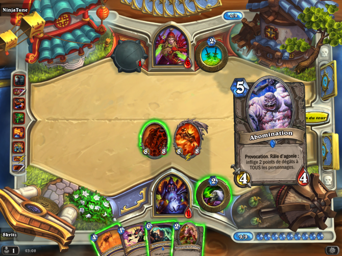 Hearthstone : Card advantage, Board advantage, Tempo et Agression